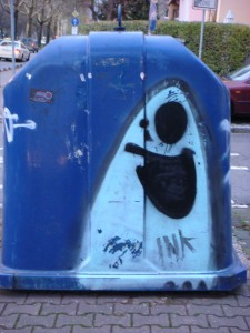 einer von vielen Graffiti, die den Hexen begegnen in Frankfurt am Main