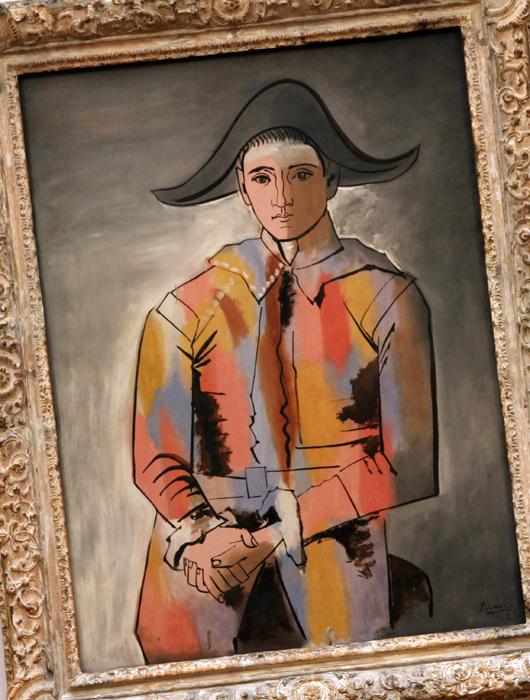 Pablo Picasso Harlekin mit gefalteten Händen
