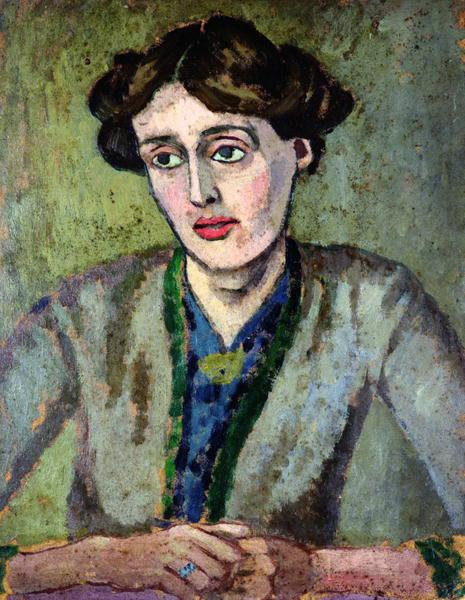 Virginia Woolf; Porträt von Roger Fry ca. 1917